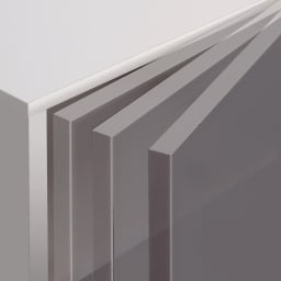 【パモウナ社製】使いやすさを考えた美しいシステム収納 扉+引き出し収納庫 幅80cm 扉にはゆっくり静かに閉まる、高品質ダンパーを装着。