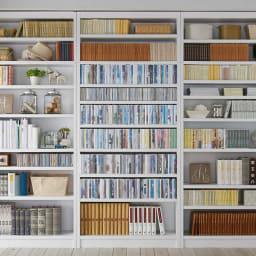 天井突っ張り式がっちりすっきり壁面本棚 奥行30cmタイプ 1cm単位高さオーダー 幅100cm・高さ207~259cm DVD収納にもオススメ!