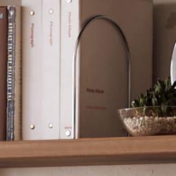 国産杉頑丈ディスプレイ本棚(ヴィンテージ風ラック) オープンタイプ・幅100cm高さ179cm 【ブックエンド付き】棚板1枚につきブックエンドは5ヵ所に付け替えられます。