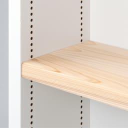 国産杉 1cmピッチ頑丈シェルフ 幅60奥行19本体高さ183cm 棚板は耐荷重約30kgの頑丈な造り。(写真はイメージ)