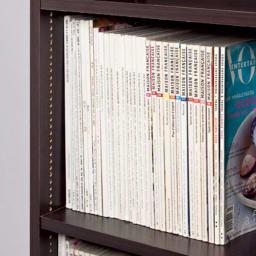 幅・高さオーダー対応 ロー本棚 奥行30cmタイプ 幅61~90cm・高さ60~100cm 【奥行30cmタイプ】棚板奥行27cmは雑誌や辞書、書類まで対応。