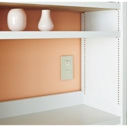A4サイズがぴったり収まる高さサイズオーダー対応壁面収納ラック 奥行29.5cmタイプ 幅60本体高さ207~259cm(対応天井高さ208~260cm) 固定棚位置は組立時に3段階(6cm間隔)から選べるのでスイッチをよけて設定できます。