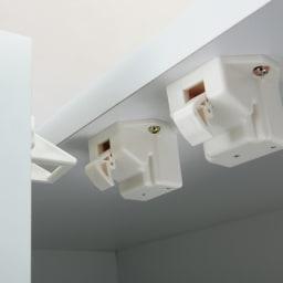 【幅60cm】 突っ張り壁面収納本棚 (奥行35cm本体高さ230cm) 地震の揺れを感知したら扉をロック。収納物の飛び出しを防ぎます。