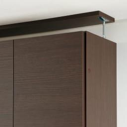 【幅60cm】 突っ張り壁面収納本棚 (奥行45cm本体高さ230cm) 面で突っ張ってしっかり安定させる安心構造。