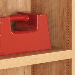ライブラリーブックシェルフ 書棚 幅60cm 高さ179cm 30mm厚の頑丈棚板は1cm間隔で可動。