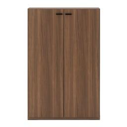 板扉の本棚 単品 奥行39cm 高さ114cm (重厚感のあるがっちり本棚シリーズ) 幅74.5cmタイプ(ア)ブラウン