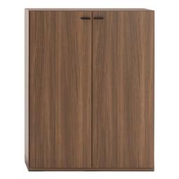 重厚感のあるがっちり本棚 板扉上下セット高さ228cm+天井突っ張り金具 板扉 幅90cm(ア)ブラウン