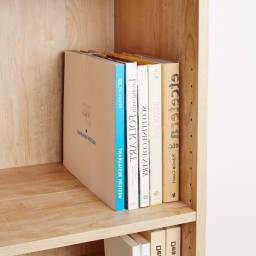 天然木調ブックシェルフ 高さ110cm 前後段違い棚をそろえて使用すればレターボックスなども収納できます。(奥行内寸38cm)