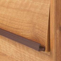 ヴィンテージウッド調 薄型マガジンキャビネット ベース CDプラス扉タイプ 3段1列[幅37.5cm奥行29.5cm高さ85cm] 雑誌やレコードが飾れるブラウンの取っ手がアクセント。