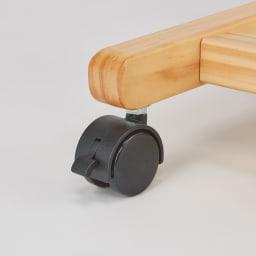 キャスター付き天然木ダブルハンガー 幅120cm キャスター付きで移動もラクラク。