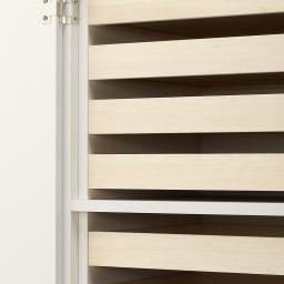 スタイリッシュな着物専用クローゼット 上棚&下盆収納・幅100cm 盆収納部。