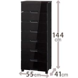 Fits フィッツプラスプレミアム 幅55cm 7段[FP5507 テンマ] (イ)オールブラック