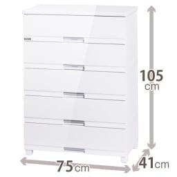 Fits フィッツプラスプレミアム 幅75cm 5段[FP7505 テンマ] (ア)セラミックホワイト