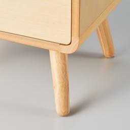 曲木風エントランスチェスト 浅引き出し4段・深引き出し2段(高さ95cm) 掃除がしやすい脚部高さ15cm。