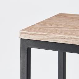 ブルックリン風 玄関ベンチ&踏み台 お得なセット レギュラー ナチュラルな天然木調天板と、ざらっとマットなアイアン調のフレームの異素材ミックス。