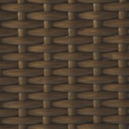 ラタン調の下駄箱下に収まるシューズワゴン 幅80cm (イ)ブラウンの素材アップ
