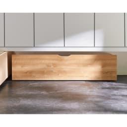 【日本製】下駄箱下木製シューズワゴン ロー(高さ20cm) 幅120cm 玄関の下駄箱下のスペースにすっきりと収まります。