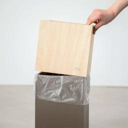 ヤマト工芸 キューブダストボックス ゴミ袋はスマートに隠せます。