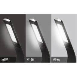 デジタル表示付きLEDスタンドライト 弱-中-強とライトは3段階に調光できます