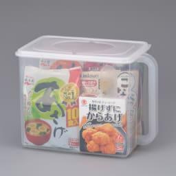 フタ付きハンディーストッカーセット(大2・小2) 大サイズ(使用イメージ)