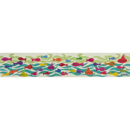 Jocomomola/ホコモモラ 汚れが拭けるPVCキッチンマット 45×240cm (ウ)マリン