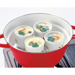 富士ホーローオールインワン万能鍋27cm ステンレス製スノコ付き 蒸し器にもなるので、茶碗蒸しも。
