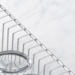 幅18cmに置ける ステンレススリム水切り 素材アップ
