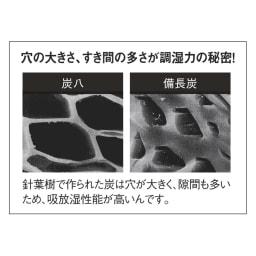 調湿木炭「出雲屋 炭八」 スマート小袋(0.4L)6個組 炭八に使われている炭と一般的な備長炭の違い。