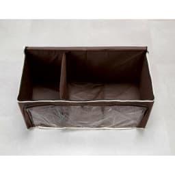 炭入り消臭衣類収納ケース大4個組 仕切りを1つ畳んだ状態