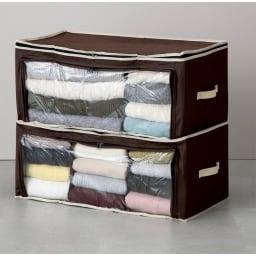 炭入り消臭衣類収納ケース大4個組 積み重ねても使用できます