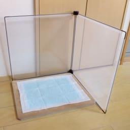 簡単取付フェンス8枚組 トイレの飛び散り防止にも。