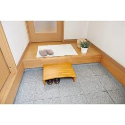 天然木玄関踏み台 (ア)幅45cm ※使用イメージ