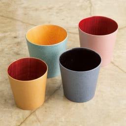 けやきのカップ 「うつろい」 山中漆器 (ア)シルキーピンク (イ)クールブラック (ウ)シャンパンゴールド (エ)グリーンパール