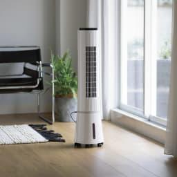 アクアクールファン冷風扇 プレミアムDCモデル  ミストでひんやり心地よい涼しさ! 冷たすぎないひんやりした風。付属の保冷剤を使えばさらにひんやり!