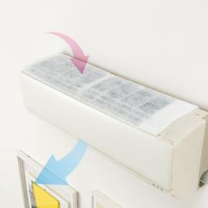 エアコン用除菌・消臭フィルター「ホワイトプラチナム」3枚セット 写真