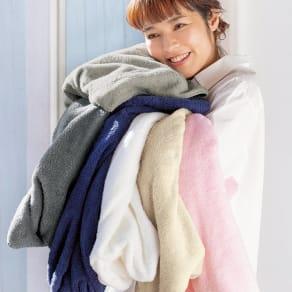 バスタオル 同色2枚組(洗うほどやわらかくなるタオル) 写真