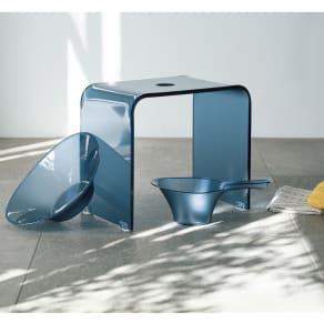 バスチェアS&洗面器&手桶(フォスキア バスシリーズ バスチェア&洗面器&手桶) 写真