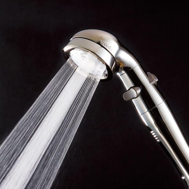 アラミック 手元ストップ節水シャワーヘッド プロ・プレミアム(スカルプケアモデル) 1年間で水道&ガス代が約33,288円お得に!※メーカー調べ。東京23区を基準に試算。