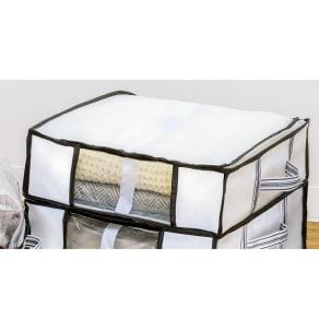 衣類用圧縮収納ボックス ハーフサイズ8個組 写真