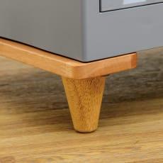 コンテナストレージボックス 専用天板&木製脚セット 写真