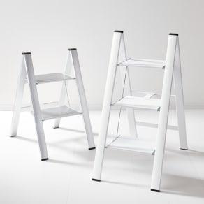 2段(薄型アルミステップ ホワイト) 写真