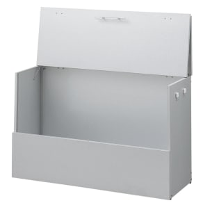 大きく開くガルバ製ゴミ保管庫【スリム】 幅100奥行37cm 写真