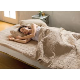 【2019年モデル】長く続く清涼感 麻混ナガークールシリーズ サラサラ織りタイプ 敷きパッド 洗濯を繰り返すことで、やわらかく肌に馴染み気持ちよさもより増します。