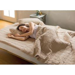 【2019年モデル】長く続く清涼感 麻混ナガークールシリーズ サラサラ織りタイプ キルトケット 洗濯を繰り返すことで、やわらかく肌に馴染み気持ちよさもより増します。