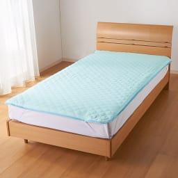 テンセルTM &ガーゼ寝具シリーズ さらさら敷きパッド (イ)ブルー