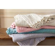 ふわふわ感が長く続く 新・くしゅくしゅ&ふわふわタオル寝具シリーズ タオルケット 写真