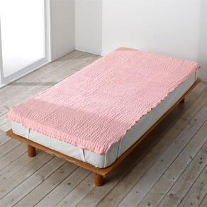 ダブル~クイーン兼用(ふわふわ感が長く続く 新・くしゅくしゅ&ふわふわ タオル寝具シリーズ タオルシーツ) 写真