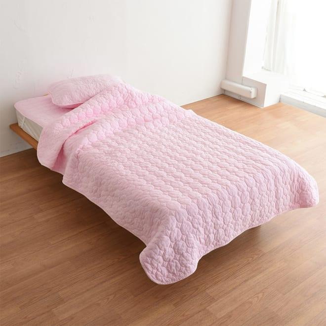 パシーマ(R)EXプラス 無地タイプ お得なセット(シングル) (ウ)ピンク ※写真は掛け敷き枕カバー3点セットです。