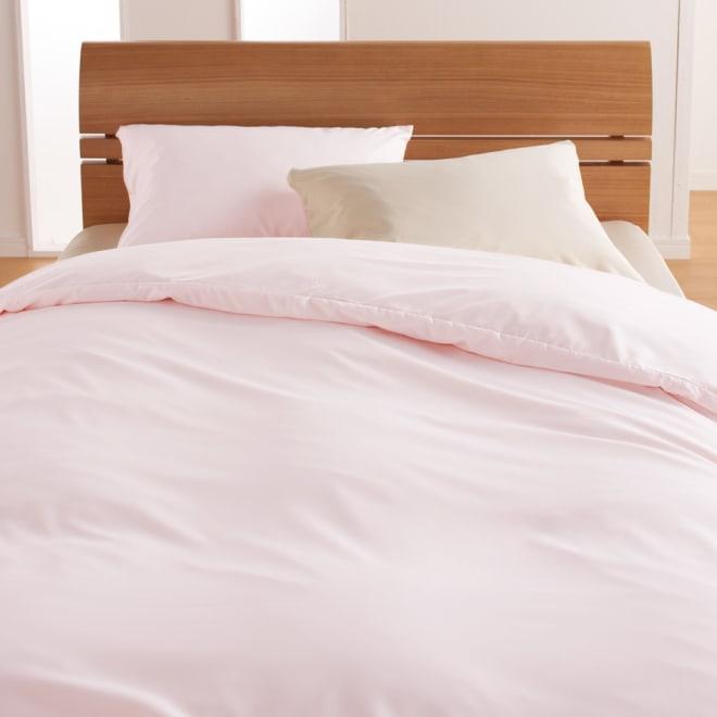 ミクロガード(R)スタンダードシーツ&カバーシリーズ 掛けカバー コーディネート例(ア)ピンク ※お届けは掛け布団カバーです。