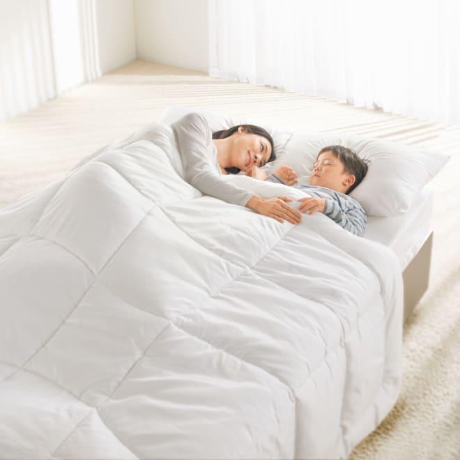 ミクロガード(R)プレミアム布団シリーズ ふんわり掛け布団 寝室のホコリが減って朝までグッスリ